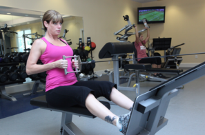 Women Working out at the Brunswick Forest Fitness & Wellness Center