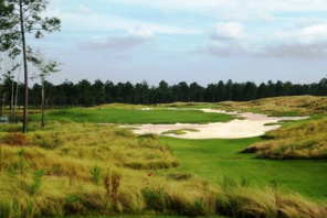 Scenic view of a hole at Cape Fear National