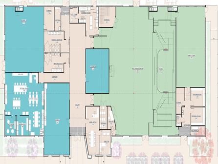 Leland Cultural Arts floor plan