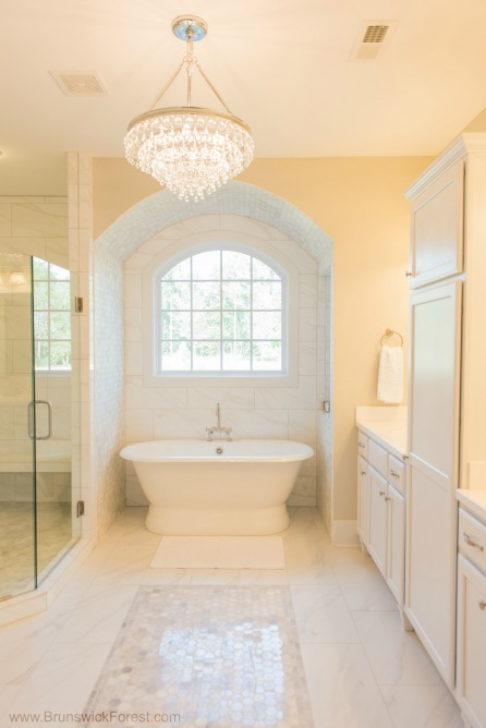 MASTER BATHROOM CHANDELIERS