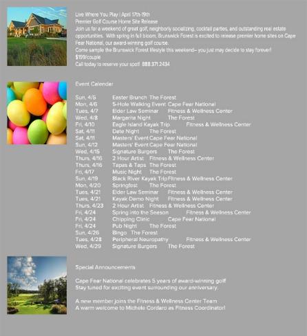 APRIL EVENTS 2015