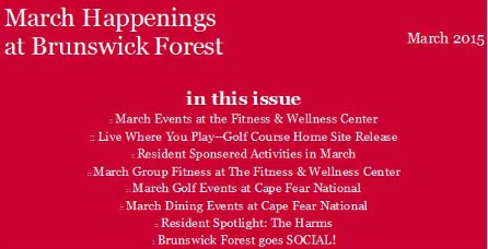 MARCH EVENTS 2015