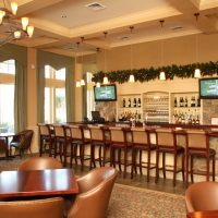 The bar in the clubhouse