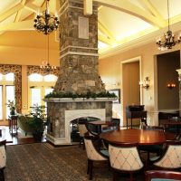 Dining area in the clubhouse