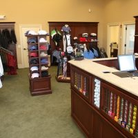 Counter at the pro shop