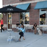 Port City Java's patio at The Villages