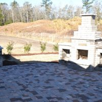 Another outdoor patio on the Jarrett Bay at Brunswick Forest