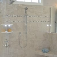 The master bathroom shower of the Jarrett Bay at Brunswick Forest