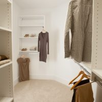 The master walk-in bedroom closet of the Adelaide