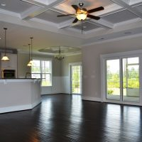 A view from the great room into the kitchen in the Ansley II