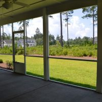 The screened porch of the Ansley II
