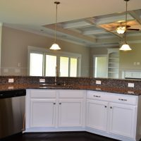The kitchen island of the Ansley II