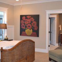 The bedroom in the Augusta Greene