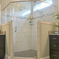 Avalon Master bath shower Brunswick Forest