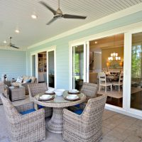 The screened patio on the Mango Bay at Brunswick Forest