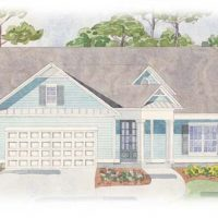The Currituck at Brunswick Forest - front elevation 4
