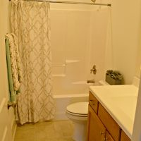 A guest bathroom in the Cooper at Brunswick Forest