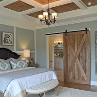 Sliding barn door in the owner's retreat in the Bitmore