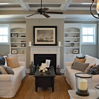 Built-ins and fireplace in the Annabelle