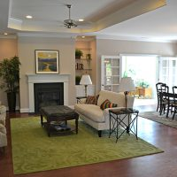 The open floor plan of the Summerwind Villas at Brunswick Forest