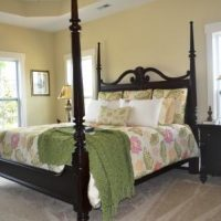 The master bedroom in the Nantucket II at Brunswick Forest