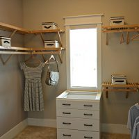The master bedroom walk-in closet of the Fulbright at Brunswick Forest