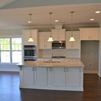 The open kitchen in the Newport II at Brunswick Forest
