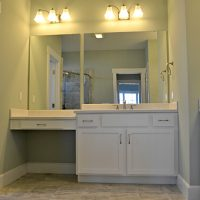 A guest bath in the Newport II at Brunswick Forest