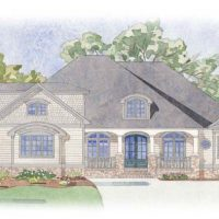 The Jarrett Bay at Brunswick Forest - front elevation 2