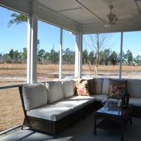 The Kensington at Brunswick Forest features a screened porch