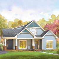 The Madeline at Brunswick Forest - front elevation 2