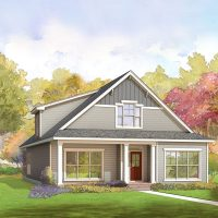 The Madeline at Brunswick Forest - front elevation 3