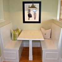 A dining nook in the Mather Green at Brunswick Forest