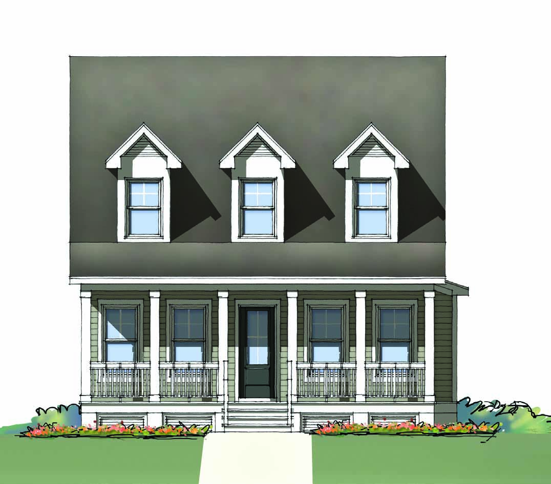 The McCrady at Brunswick Forest - front elevation 3