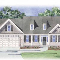The Newport II at Brunswick Forest - front elevation 2