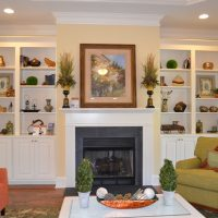 The Beaufort at Brunswick Forest Living Room Fireplace