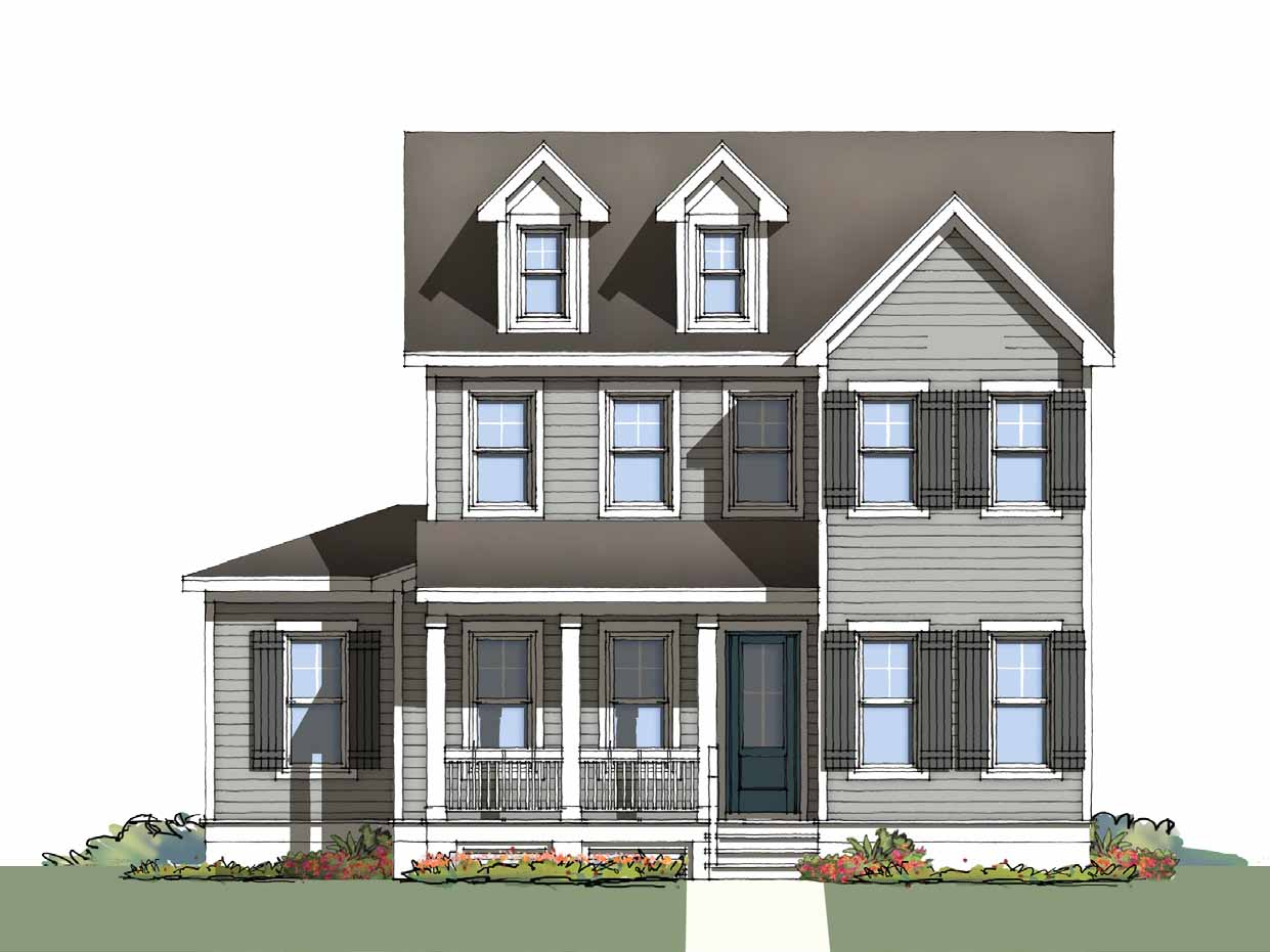 The Wentworth at Brunswick Forest - front elevation 3