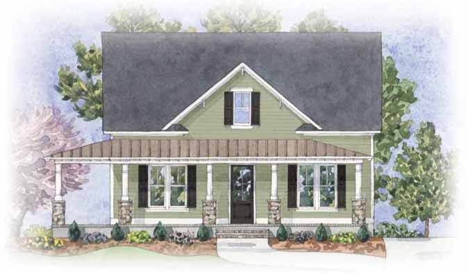 Hatteras - front elevation 1