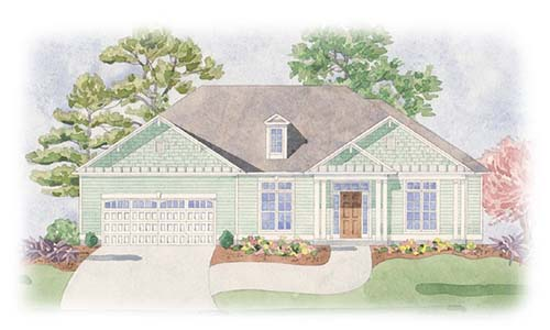 The Jewel II at Brunswick Forest - front elevation 1