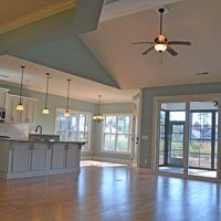 The open floor plan of the Logan Heron II at Brunswick Forest