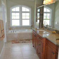 The master bath of the Spencer II at Brunswick Forest