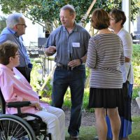 Brunswick Forest residents enjoying an event and refreshments outdoors