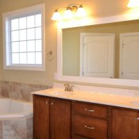 The large master bath in the Claremont II at Brunswick Forest