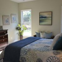 The master suite in the Heron at Brunswick Forest