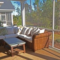 The screened porch on the Lanai I at Brunswick Forest