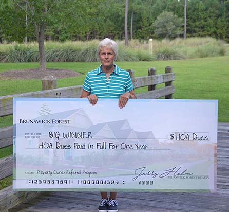 Valerie DeJarld Big winner at Brunswick Forest