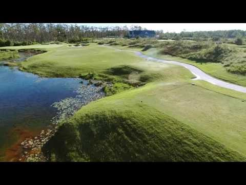 Cape Fear National Hole 9 Flyover