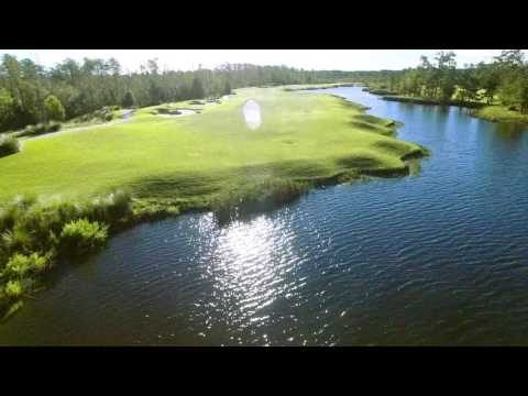 Cape Fear National Hole 8 Flyover
