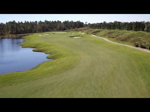 Cape Fear National Hole 15 Flyover
