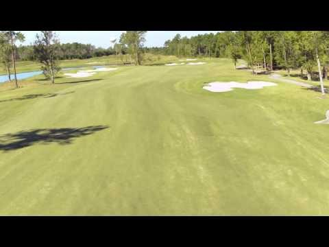Cape Fear National Hole 12 Flyover